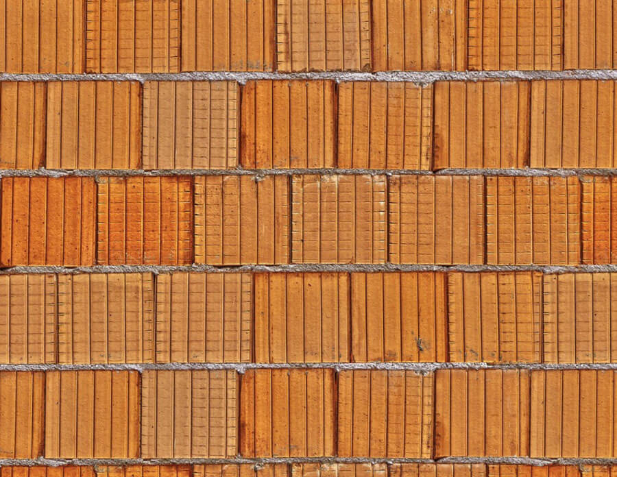 Стена из кирпича керамического